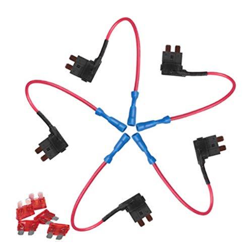 Standard 5Pcs Qiorange12V 24V Standard Add A Circuit Fuse Tap Piggy Back Blade Holder Plug Socket Car Pack
