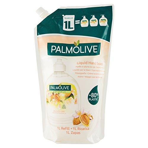 Palmolive Sapone Liquido Mandorla Eco Ricarica - Pacco da 10 x 1000 ml - Totale: 10000 ml