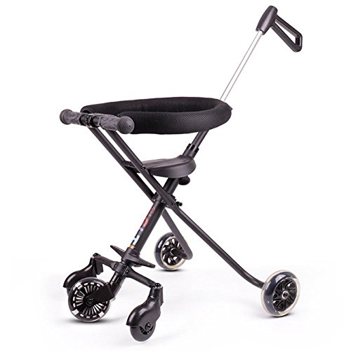 Einfaches Leichtgewicht Five Wheel Kinder Kinderwagen Folding Aluminium Kinderwagen Anti-Rollover Baby Carrier , black , 52 cm