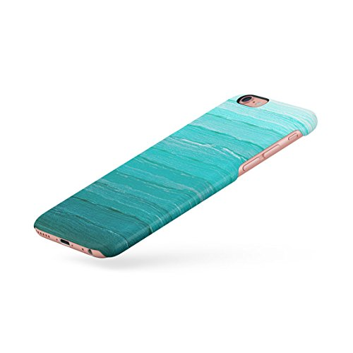 Pink Ombre Trippy Water Custodia Posteriore Sottile In Plastica Rigida Cover Per iPhone 6 & iPhone 6s Slim Fit Hard Case Cover Teal Paint