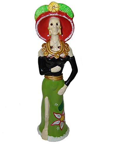 Ton Catrina, handgefertigt, Sammlerstück, Dia de Los Muertos (Tag der Toten) grün/schwarz ()
