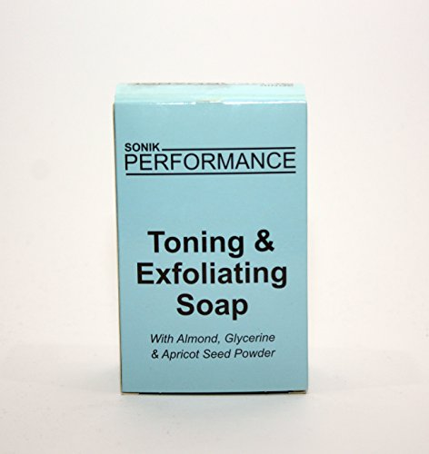 Whitening-apricot (EXTREME GLOW   SKIN LIGHTENING   WHITENING   BLEACHING   TONING   BRIGHTENING   EXFOLIATING SOAP 200G - By SONIK PERFORMANCE - with almond, glycerin & apricot seed powder - for all skin types - for men & women by Sonik Performance)