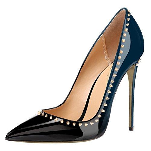 EKS, Scarpe col tacco donna Blau-Schwarz-12cm