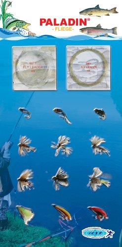 Paladin  Set: Angelschnüre-haken Top Set Fliegen-sortiment, farbig, 4300037
