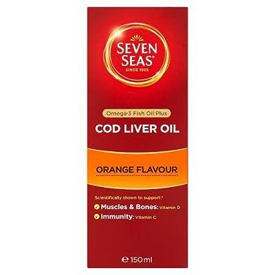 Seven Seas Cod Liver Oil, Orange Flavour, 150ml