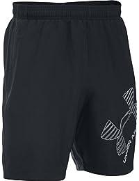 Under Armour Ua 8 Woven Graphic Short - Pantalón corto para hombre, color negro, talla L