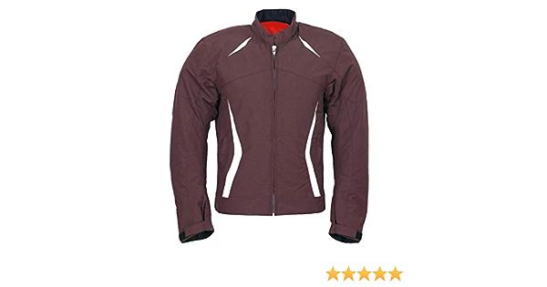 Jet Motorradjacke Für Herren Textil Leicht Sommer Gepanzert Lässig Reno S Burgunderrot Bekleidung