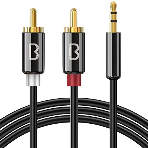 Cable Audio RCA 2 M, Beikell Cable Jack 3.5mm a 2 RCA...