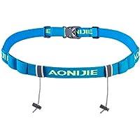 TRIWONDER Race Cinturón para Número Porta Dorsal para Running Triatlon Maratones Unisex (Azul - Nueva Versión)