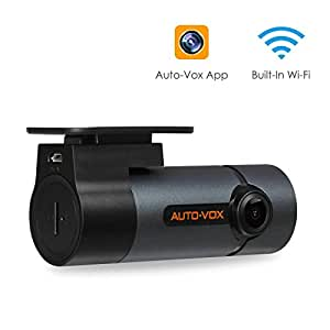 AUTO-VOX D6 pro Dashcam WiFi 1080P Caméra Embarquée / Enregistreur de conduite FHD avec Objectif Réglable 300° haute vision nocturne, Capteur G Panasonic