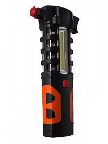 pwshop24 Notfall Hammer LED Taschenlampe Gurtsschneider Warnleuchte Unfall Hilfe Notlicht