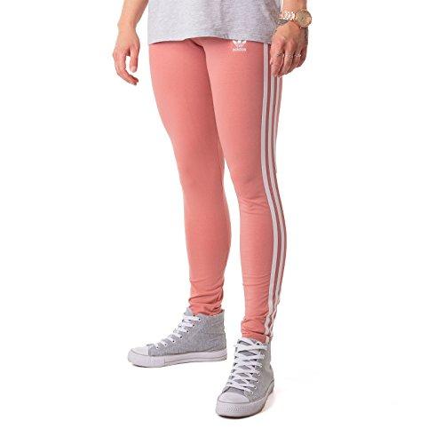 adidas Damen 3 Streifen Leggings Ash Pink, 38
