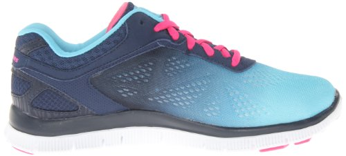 Skechers Flex Appeal Style Icon, Baskets mode femme Bleu (Nvbl)
