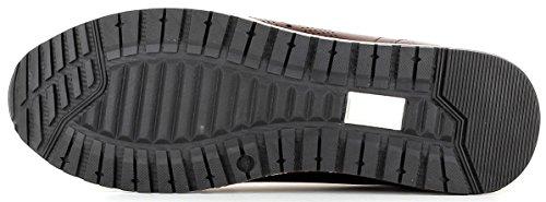 Gordon & Bros Conte A150210 Elegante Sneaker Da Uomo In Pelle Di Alta Qualità, Scarpa Stringata, Business Sneaker, Profilo Suola Per Il Business, Tempo Libero Marrone