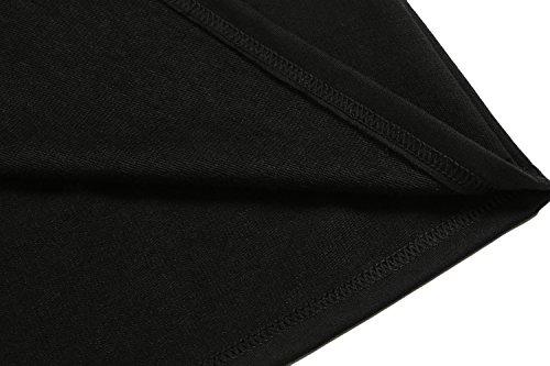 COOFANDY Herren Poloshirt elegante Langarmshirts regular fit Langarmpolo für Männer Schwarz