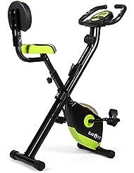 Klarfit X-Bike 700 Vélo d'appartement pliable (pulsomètre et ordinateur de bord, 8 niveaux de résistance, acier, plastique dur, max. 100kg)