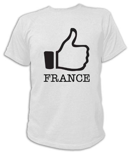 Artdiktat T-Shirt Like France, Unisex, Grösse XXL, weiß