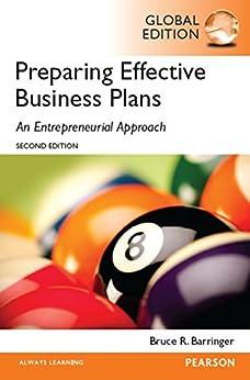 Preparing effective business plans an entrepreneurial approach