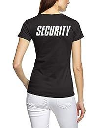 SECURITY - Damen T-Shirt + CAP ! Set schwarz S M L XL 2XL Druck vorne und hinten !