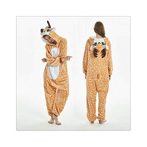 Girls Unicorn Pegasus Pajamas Sets Flannel Animal Cartoon Sleepwear Stitch Pyjamas for Women Adult Halloween Hooded Pajamas Deer M (Disney 365 Halloween)