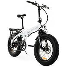 Tucano Bikes Monster HB Bicicleta Eléctrica Plegable, Blanco (Benz), Talla Única