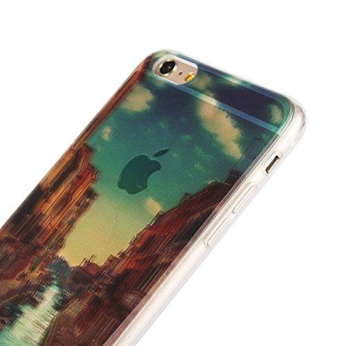 "MOONCASE iPhone 6 Coque, Ultra Mince Motif Etui Souple TPU Silicone Antichoc Housse Case pour iPhone 6 / 6s (4.7"") (Arab Tower Hotel) Londres Tower Bridge"