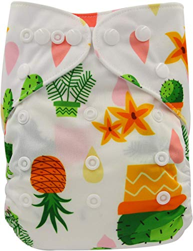 Ohbabyka Reusable Washable Baby Boys/Girls Pocket Cloth Diapers with 1pc Insert ¡­