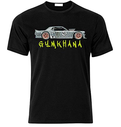 Ford Mustang 4x4 Gymkhana Fan fan T-shirt size S-XXL Weihnachtsgeschenke Xmas Schwarz