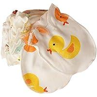mxdmai Guantes Guantes de bebé para niños Baby Boy/Girl Guantes lindos de la historieta de Scratch recién nacido manoplas regalo para el bebé del muchacho / (amarillo) 1 par para bebé