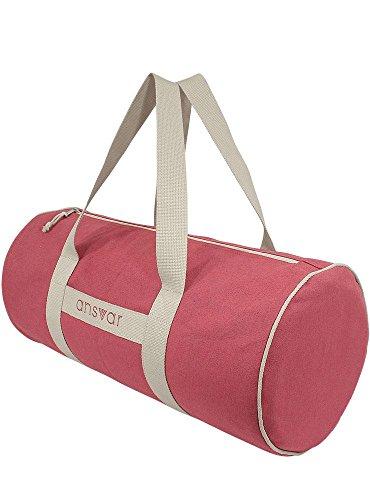 Sporttasche ansvar III aus Bio Baumwoll Canvas - Hochwertige Damen & Herren Sporttasche, Duffle Bag aus 100% nachhaltigen Materialien - mit GOTS & Fairtrade Zertifizierung, Farbe:altrosa - 5