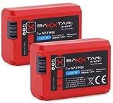 2X BAXXTAR PRO - Ersatz für Akku Sony NP-FW50 (echte 1080mAh) mit Infochip - Intelligentes Akkusystem neueste Generation