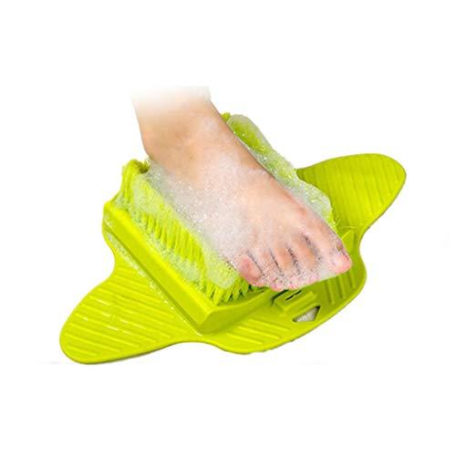 Ckssyao Lazy Foot Washing Artefakt, Badezimmer St. Füße, Massage Füße, Peeling, Hausschuhe, Geeignet für Sportler, Erwachsene Männer und Frauen, alte Menschen,Green - Feine Peeling-reiniger