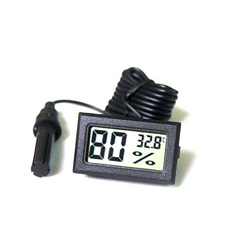 Ytian LCD sintonizzatore Digitale Integrato Termometro Igrometro con Sonda Esterna per incubatrice Acquario Pollame Reptile Nero