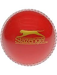 Slazenger Oscillante Bowling Allenamento Palla da Cricket Rosso/Bianco - Rosso, Juniors