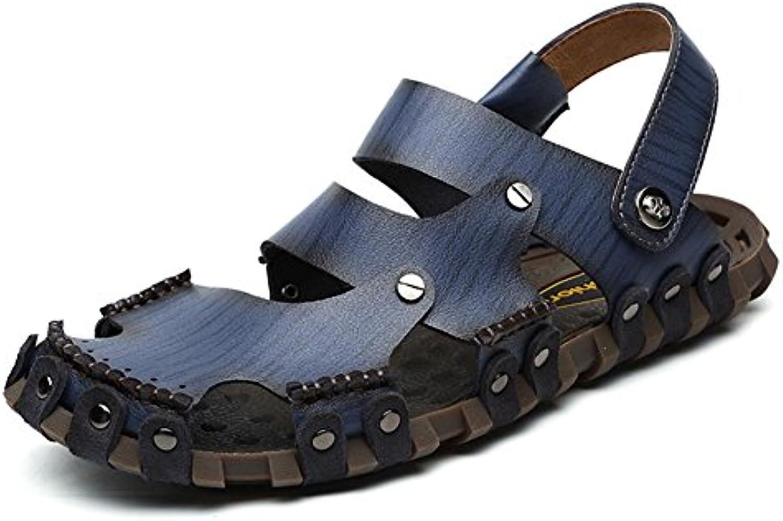 FFTX Sandali di di di Cuoio degli Uomini puramente Scarpe di Acqua Fatta a Mano Durevole ma Molle Modo e Comodo, 39 | Abile Fabbricazione  9b0bc3