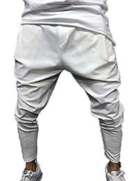 oneforus Pantaloni Harem Conici con Cavallo Basso a Goccia da Uomo 4cb65b3e32bb