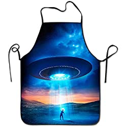 Fashion cap Bib Apron For Women Men Adults Waterproof Natural I Want To Leave UFO Fly To The Space New