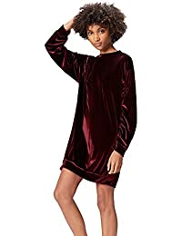 FIND Kleid Damen Velours Oversize- und Sweatshirt-Schnitt
