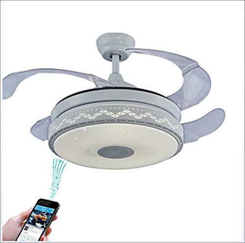shengshiyujia Geométrico/Novedades Ventilador De Techo Luz Ambiente Galvanizado Metal Ajustable, Control WiFi,...