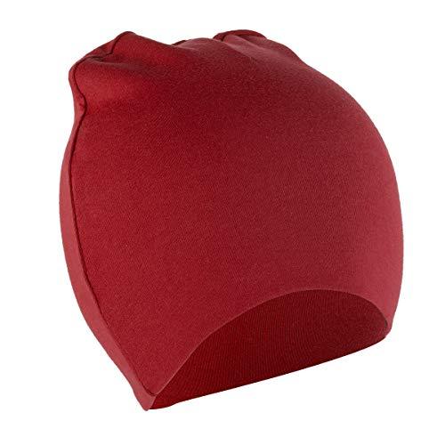 DaMohony - Gorro Recién Nacidos Bebés Primavera Sombrero de Beanie para Bebé Pequeños Gorra de Punto Niños Unisex - Rojo