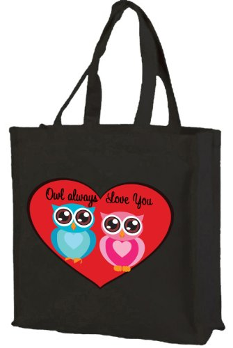 owl-always-love-you-cotton-shopping-bag-black