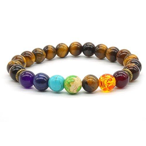 Pulsera tibetana extensible y elástica. Piedras...