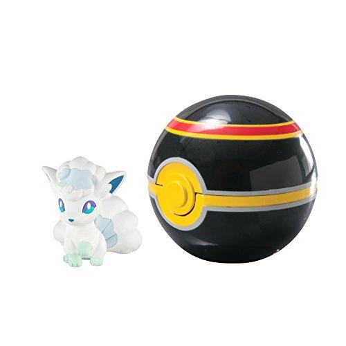 Pokemon T19124 - Tomy Pokéball für Unterwegs mit Vulpix und Luxuryball
