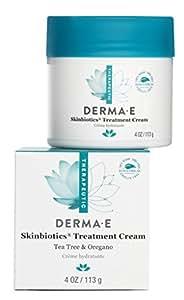 Derma E Crème traitante Skinbiotics pour la peau - Mélange d'huile de mélaleuca et d'huile d'origan bio aux puissantes propriétés antibactérienne, antifongique et antiseptique naturelles - 120 ml
