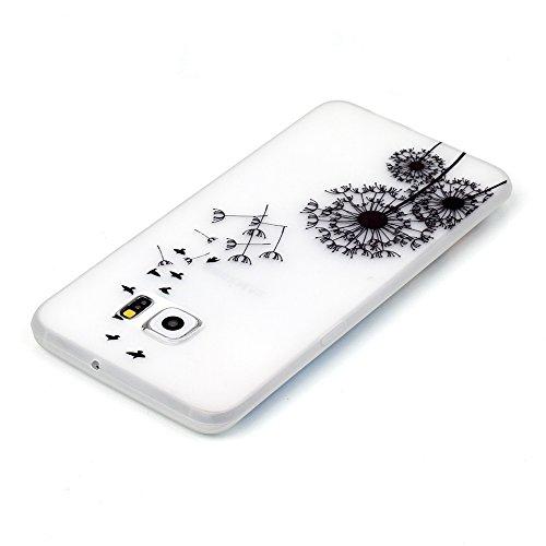 iPhone 6/6S 4.7 Inch Luminous Hülle (Mit Frie HD Displayschutzfolie) Leuchtende Silikone Rückhülle Für iPhone 6/6S 4.7'' Silikon Gel Etui Handy Hülle Weiche Transparente Luminous TPU Back Case Tasche  Vögel Löwenzahn