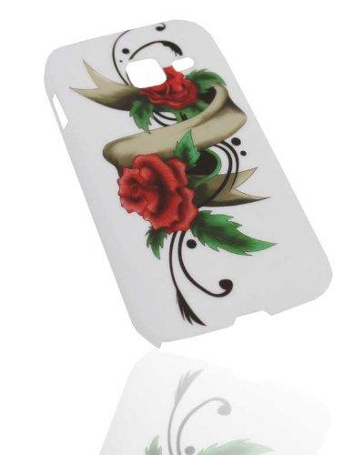 Handy Tasche Hard Case Cover für Samsung Galaxy Ace Duos GT-S6802 / Handytasche Schutzhülle Rose