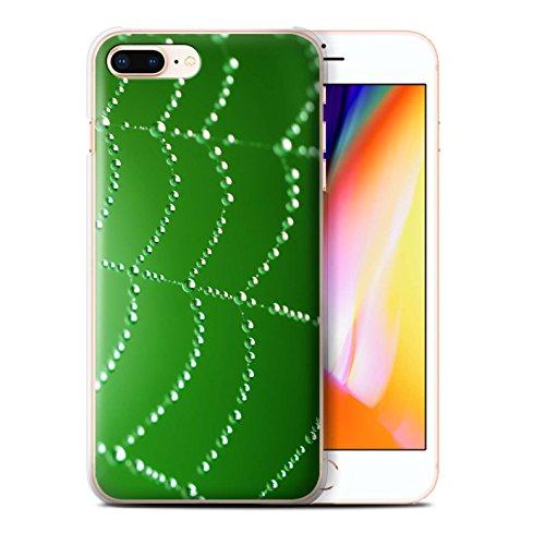 Stuff4 Hülle / Case für Apple iPhone 8 Plus / Rosa Muster / Spinnen Netz Perlen Kollektion Grün