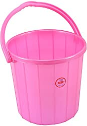ASVK Plastic Bucket (25 Litres, Pink, Red, Blue, Green)