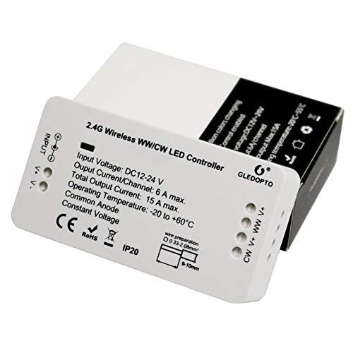 Controlador RGBW Mi Light Compatible con Amazon Control de voz Alexa, 2 4G  Wireless 15A Led Strip Light WiFi APP Bridge Control inalámbrico Dimmer