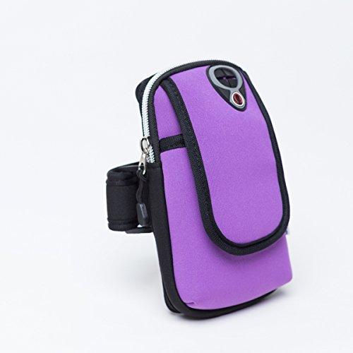 Rad - Ausrüstung, Sport, Laufen, Schock, Arm - Tasche Violet